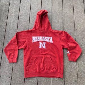 Adidas University of Nebraska Hoodie Sweatshirt